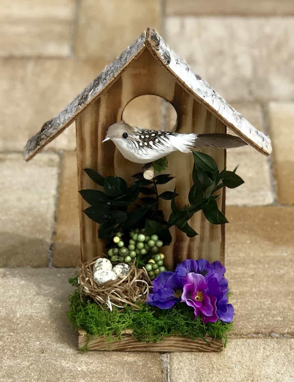 Dekorační budka pro ptáky Kropenka