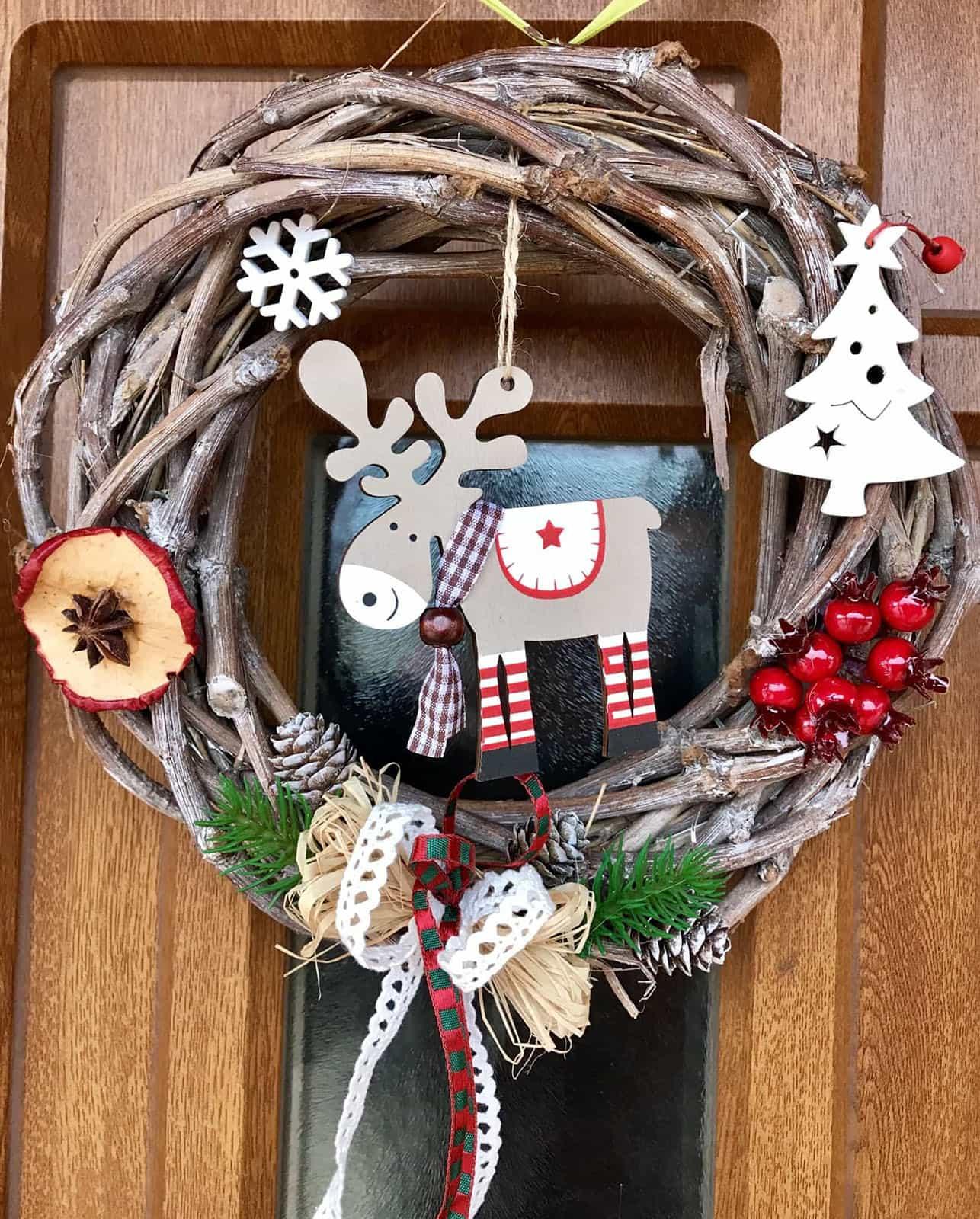 Vánoční věnec Veselý sob