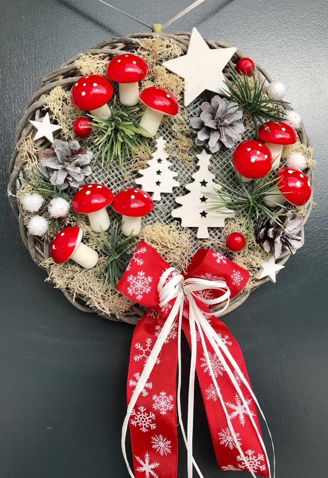 Vánoční věnec Muchomůrka